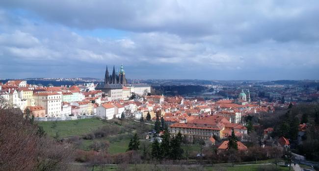 Prague Castle on spring-like day!