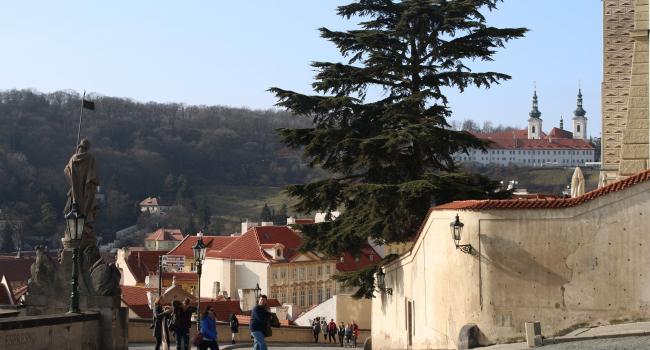 Strahov from Prague Castle
