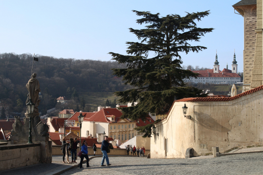 Strahov from Prague Castle